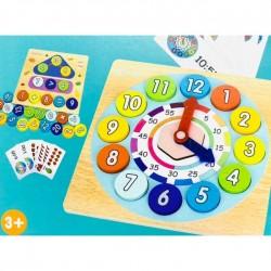 Joc educativ 2 in 1 Invatarea Ceasului si Invatarea Calculelor