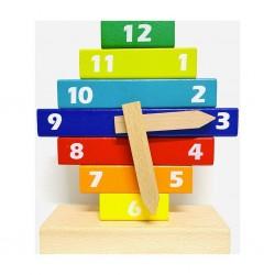 Puzzle Ceas din lemn