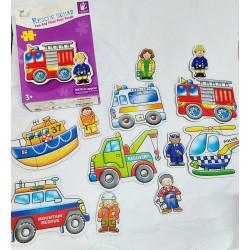 Bebe Puzzle Vehicule cu Omuleti