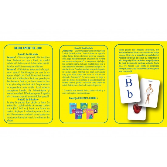 Carti de joc Montessori EduCard Junior+  Alfabetul