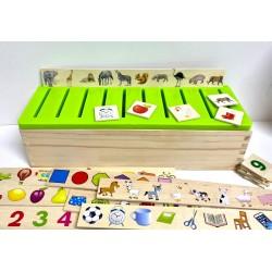 Clasificare Joc Montessori din Lemn in Limba Romana