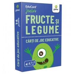 Carti de joc Montessori EduCard Junior+  Fructe si Legume