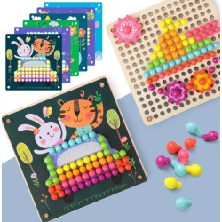 Joc cu pini colorati Fun Mushroom Nail Puzzle