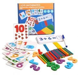 Joc din lemn Iubesc Matematica