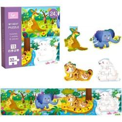 Puzzle 32 piese Jungla Vesela