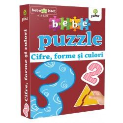 Bebe Puzzle Cifre, Forme si Culori