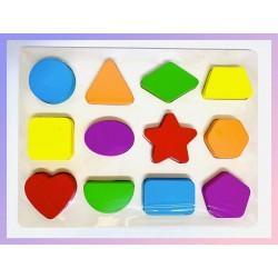 Puzzle 3D incastru Forme Geometrice