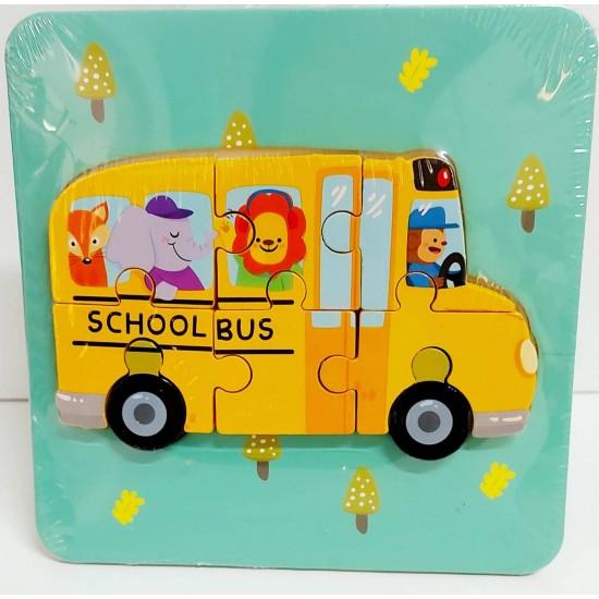 Puzzle Autobuz scolar 3D