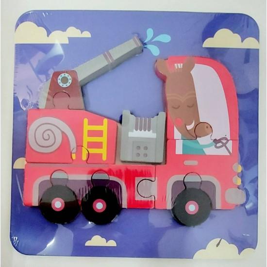 Puzzle Masina de pompieri 3D