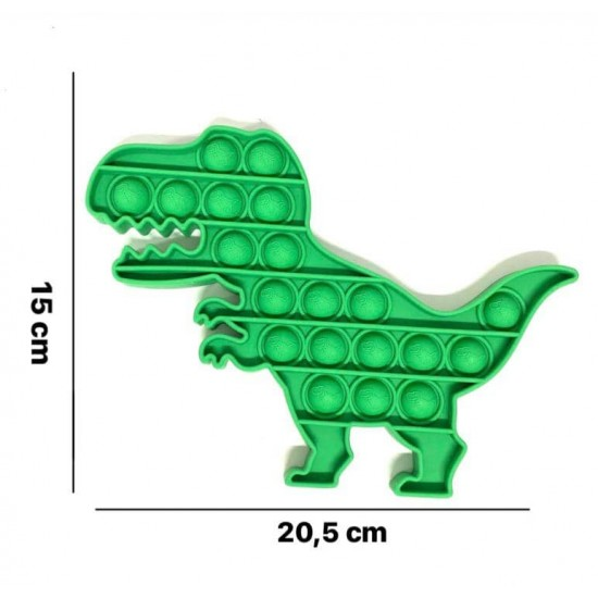 Pop it Antistres din silicon Dino Verde