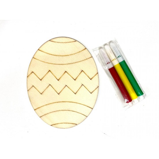 Figurina Craft de colorat Ou