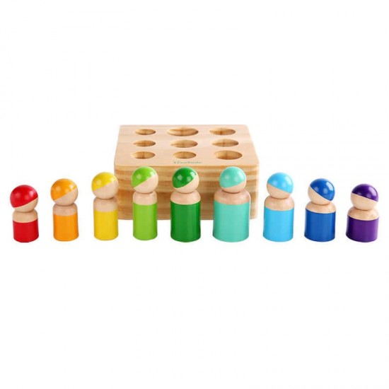 Papusi Montessori Peg Dolls