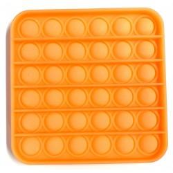Pop it Antistres din silicon Fosforescent Patrat Portocaliu