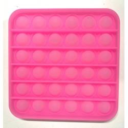 Pop it Antistres din silicon Fosforescent Patrat Roz