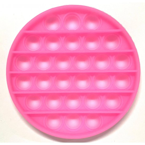 Pop it Antistres din silicon Fosforescent Cerc Roz