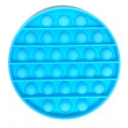 Pop it Antistres din silicon Fosforescent Cerc Bleu