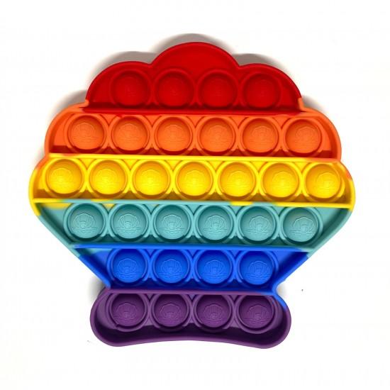 Pop it Antistres din silicon Scoica Multicolora