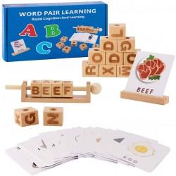 Cuburi din lemn Invata Engleza