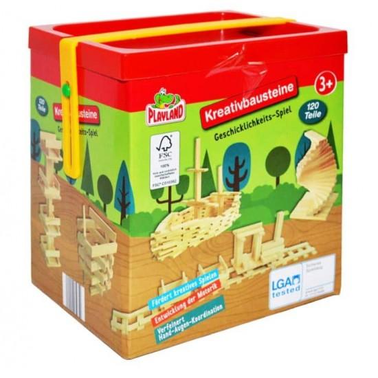 Joc constructii din lemn Playland , 120 piese cutie