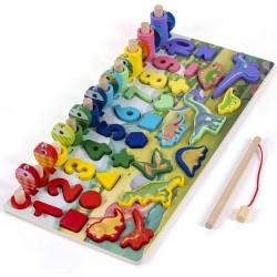 Joc din lemn Logaritmic Multifunctional Aritmetica si Dinozauri