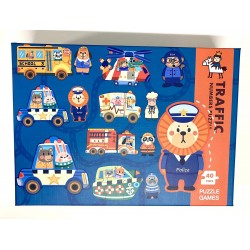Puzzle 6 in 1 Traffic 40pcs