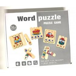 Puzzle de potrivire cu bete Cuvinte