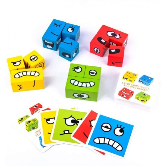Puzzle Cuburi de Constructii Emotii