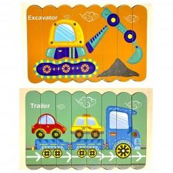 Puzzle de potrivire bete Vehicule