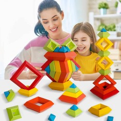 Joc Montessori lemn Curcubeu Triunghi