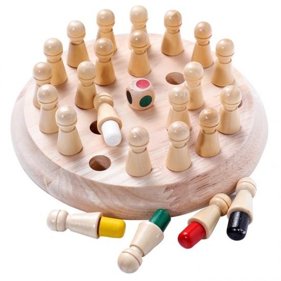 Joc de memorie cu pioni din lemn Montessori