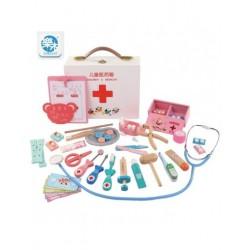 Trusa doctor stomatolog  Set cu accesorii incluse din lemn