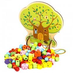 Joc de snuruit Copac cu fructe din lemn 102 piese