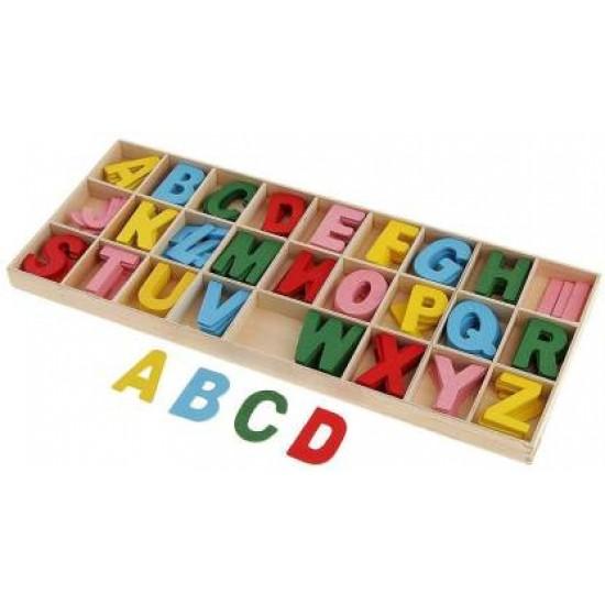 Litere colorate din lemn craft