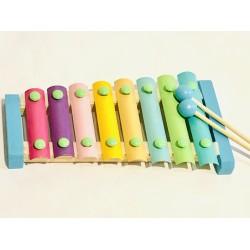 Xilofon din lemn clasic cu 8 note pastel