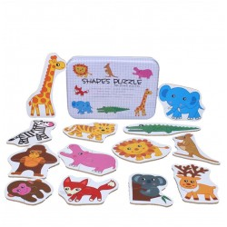 Puzzle Din 2 Piese In Cutie Metalica Animale din Savana