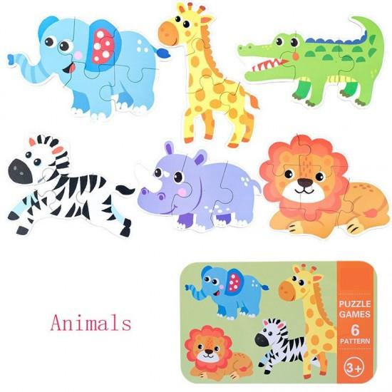 Puzzle in cutie metalica Animale din Safari