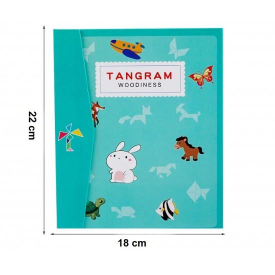 Carte Magnetica Tangram cu piese din lemn