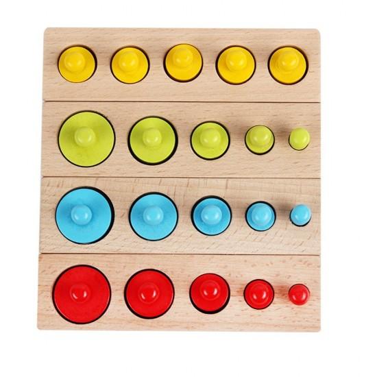 Cilindrii Montessori din lemn color