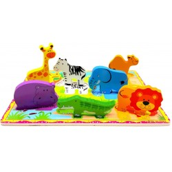 Puzzle 3D Animale din Safari