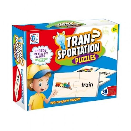 Puzzle doua piese Masini de transport