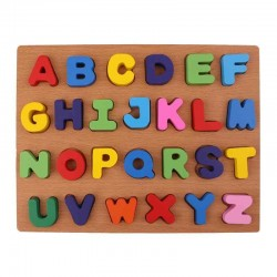 Alfabetul litere mari Puzzle incastru 3D