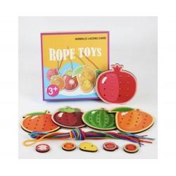 Fructe de Snuruit Din Lemn Joc Montessori