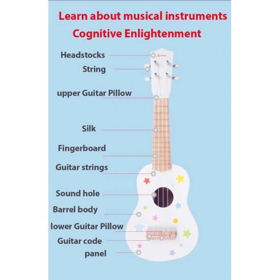 Chitara clasica din lemn de jucarie