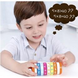 Calcule Matematice - Joc Rubic Cilindru din Lemn