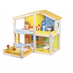 "Casa de Papusi colorata ""My Pretty Villa"" cu accesorii Roz"