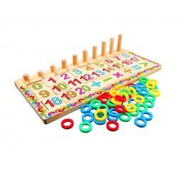 Joc educativ logaritmic din lemn Montessori