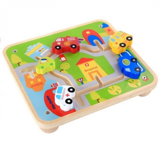 """Joc din lemn Labirint Kabi """"Cursa masinilor"""""""