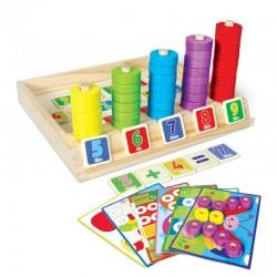 Joc multifunctional educativ de invatare a culorilor, cifre, adunari, scaderi si puzzle distractiv