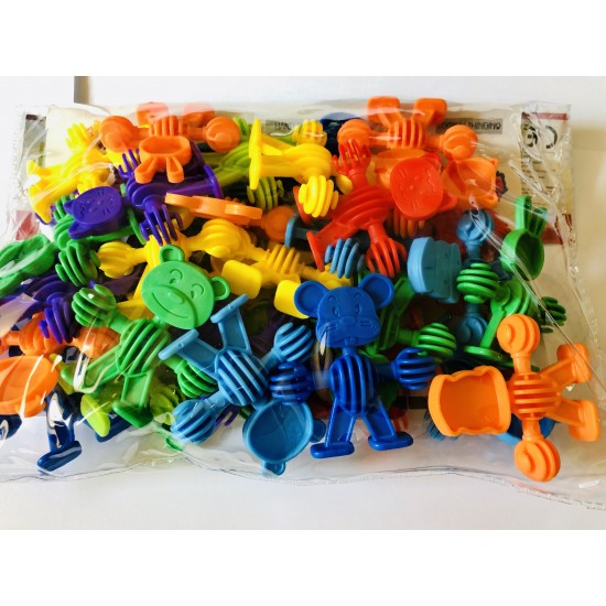 Joc constructii cauciuc Animale , Multicolor, 3D