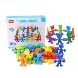 Joc Constructii creativ Cauciuc Animale , Multicolor, 3D